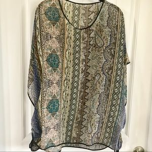 PONCHO. ONE SIZE. SHEER. A36